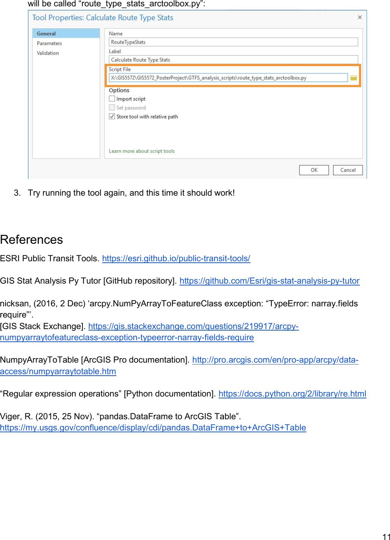 Exercise 04 Python Script GTFS Analysis Scripts Instructions