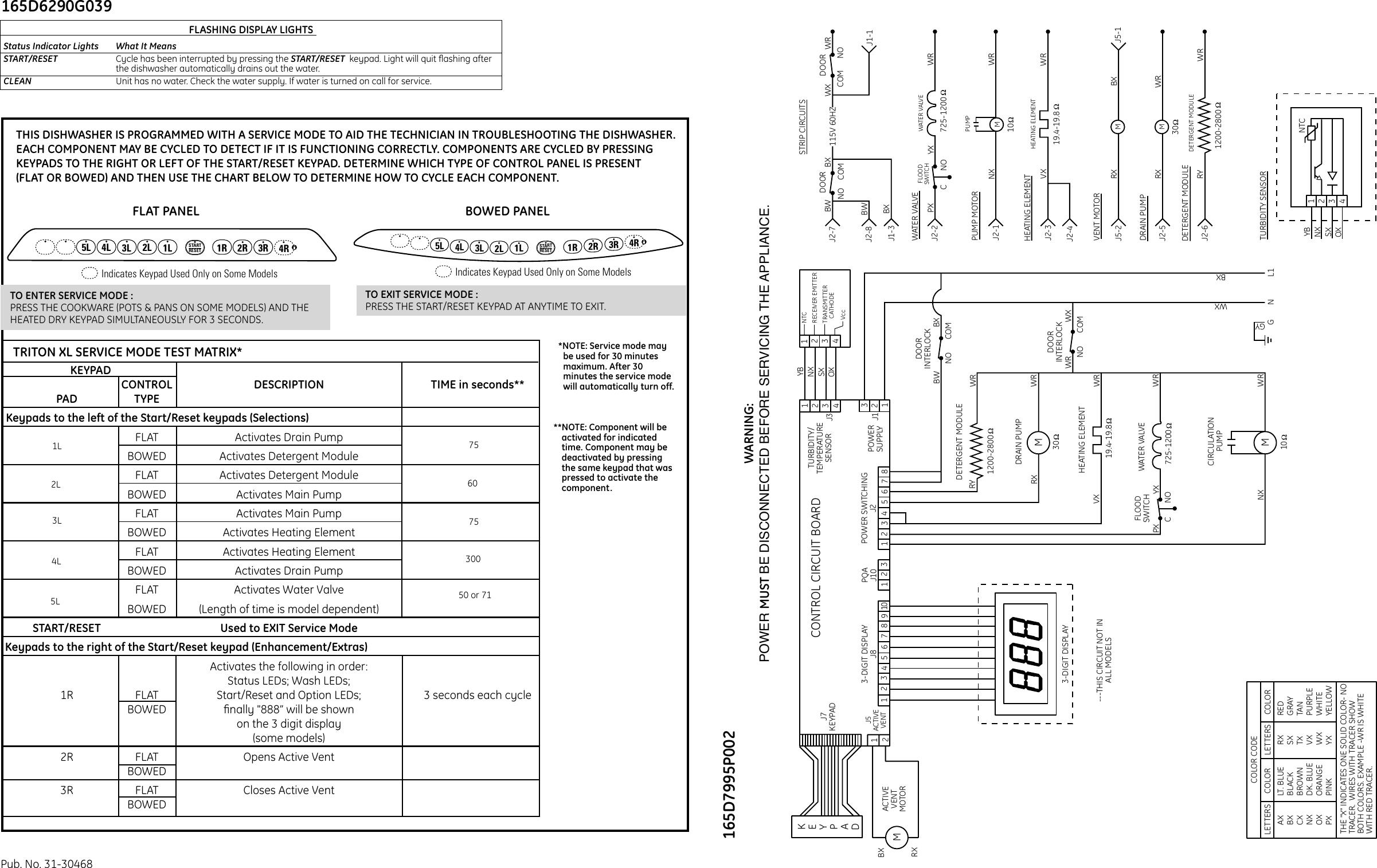 1198 165d7996p002 31 30468 Ge Dishwasher Mini Manual