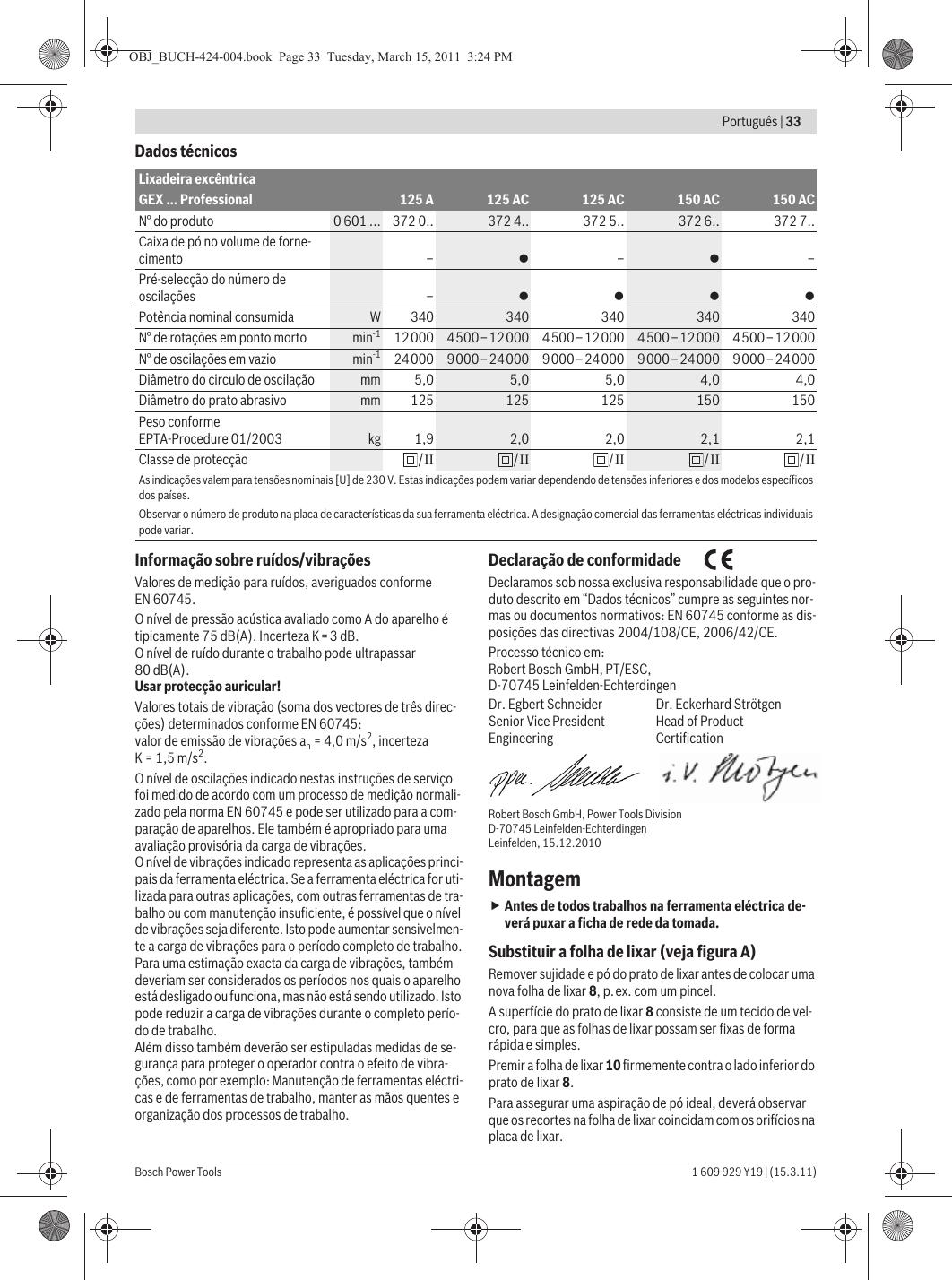 Appendere 33 Giri gex 125 ac professional manual