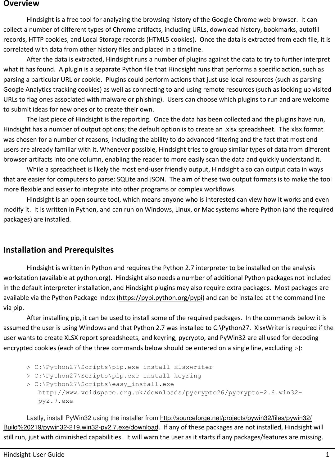 Hindsight User Guide v1 3 0x Guide V1 3 0