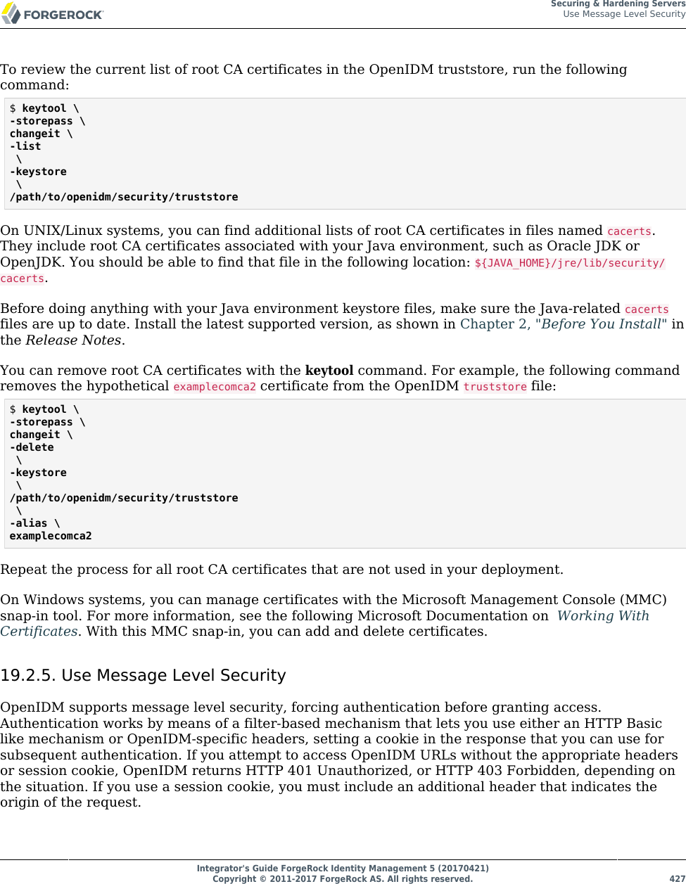 Integrator's Guide ForgeRock Identity Management 5 IDM Integrators