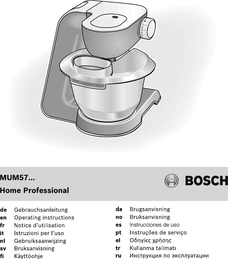 machines de cuisine Bosch rührschüssel muz6kr3 pour mum6..