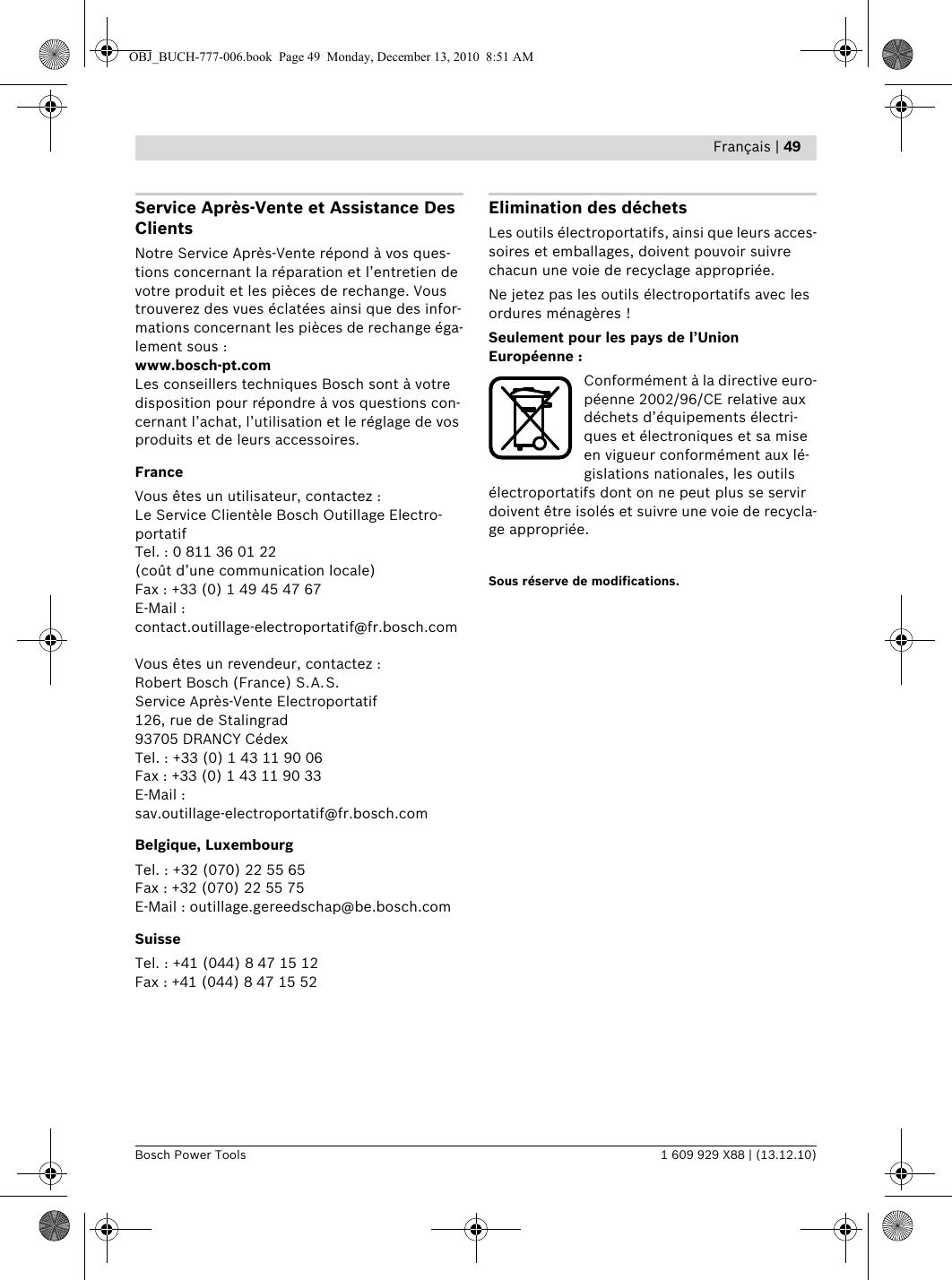 Batterie pour outil électrique BOSCH d-70745-2000 mAh 10,8 V Li-Ion gares marque