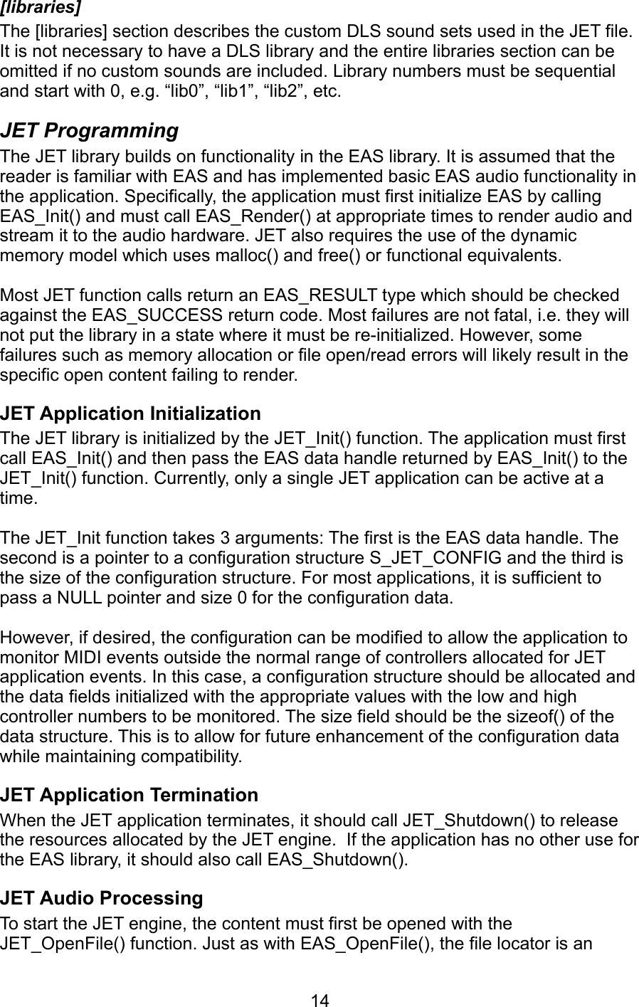 Sonic Network JET Programming Manual