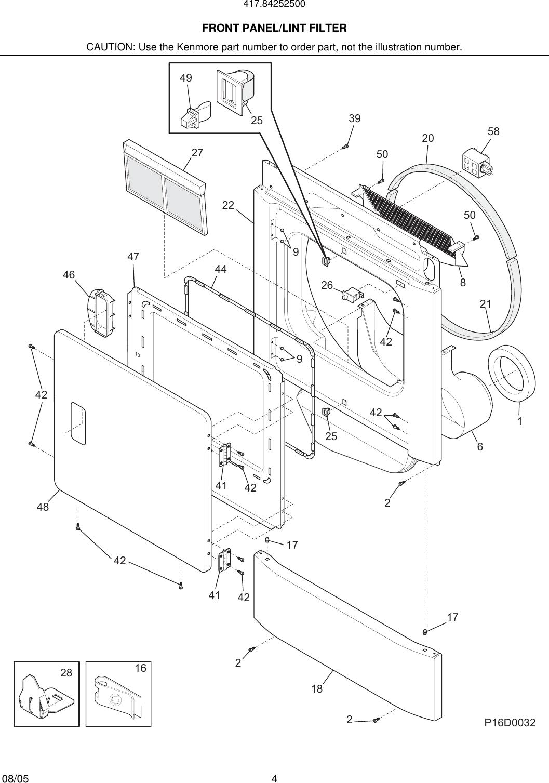 Ge Gtdp280ed0ww Dryer Parts Manual Guide