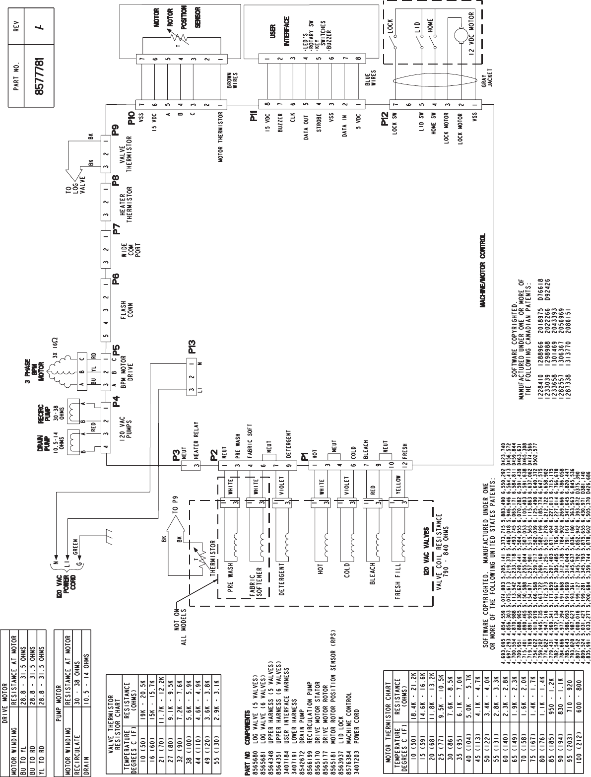 Graphic1 Kenmore Washer Wiring Sheet 110 27092602 Diagram Page 1 Of 2