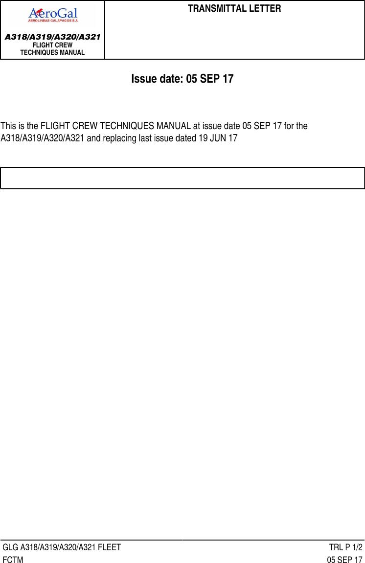 FCTM M2K 006 FLIGHT CREW TECHNIQUES MANUAL A320 A319 2K