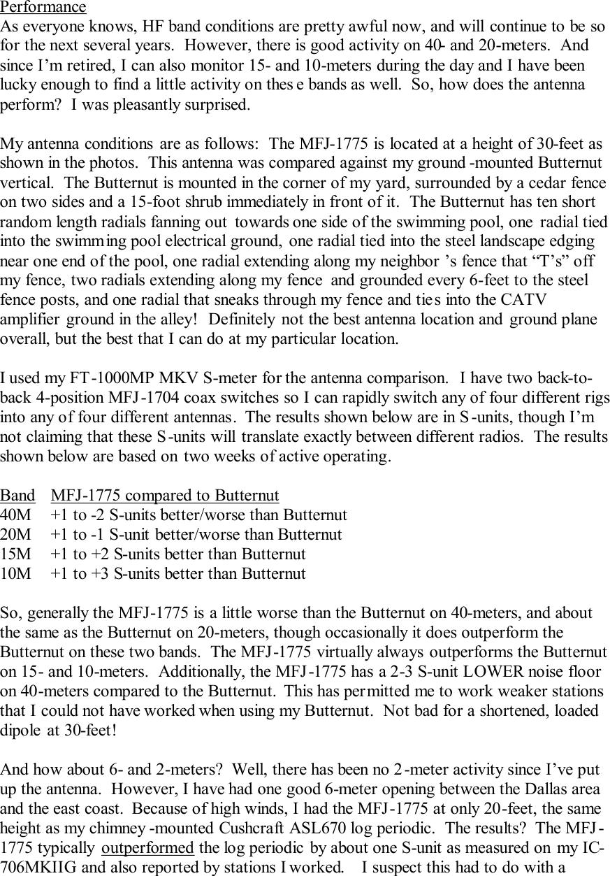 Product Review MFJ 1775 Rotating mini dipole