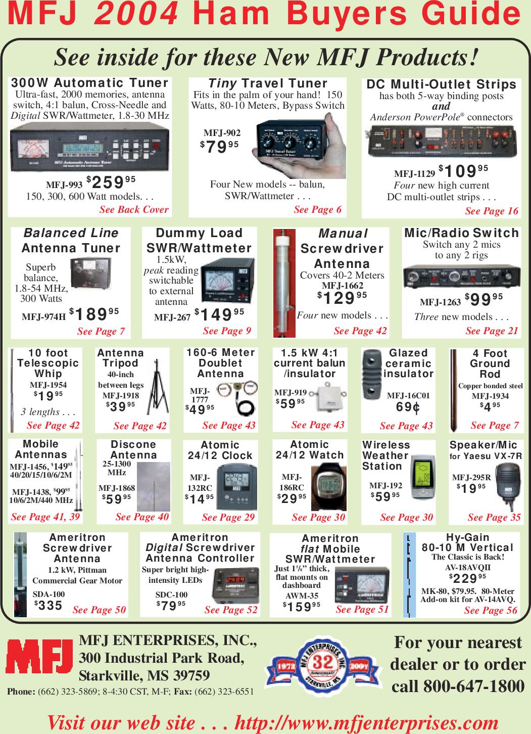 qstcatp01 mfj 2004 broshureWide Band Rf Amplifier For 10mhz 8211 500mhz Input #4