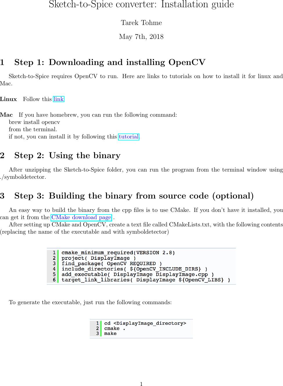 Install Opencv