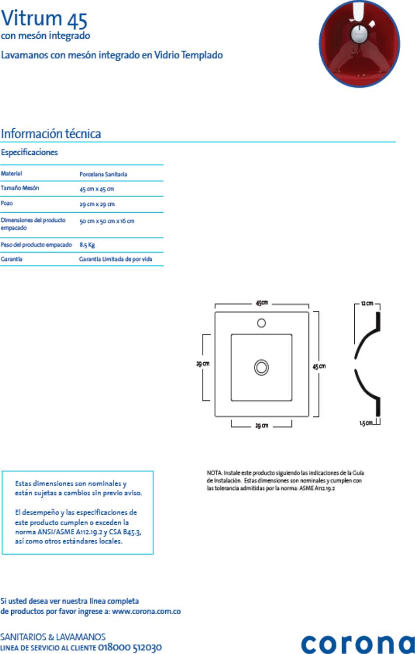 Mueble Collis Vitrum 45 Ficha Tecnica 1 # Muebles Ficha Tecnica
