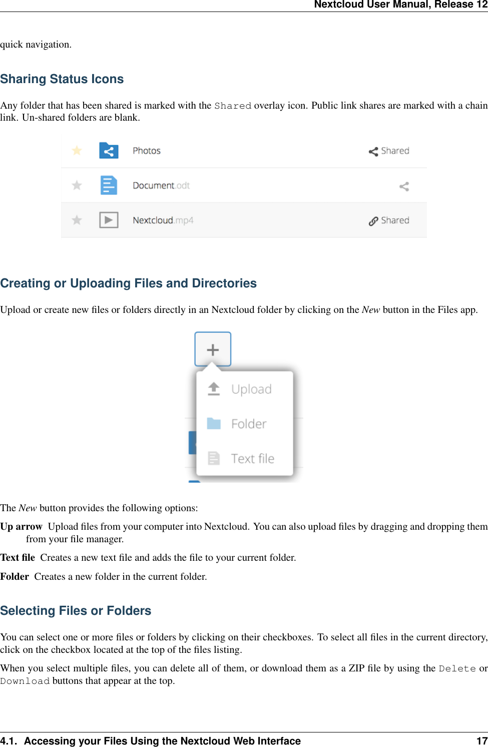 Nextcloud User Manual