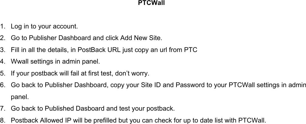 Offerwalls Manual