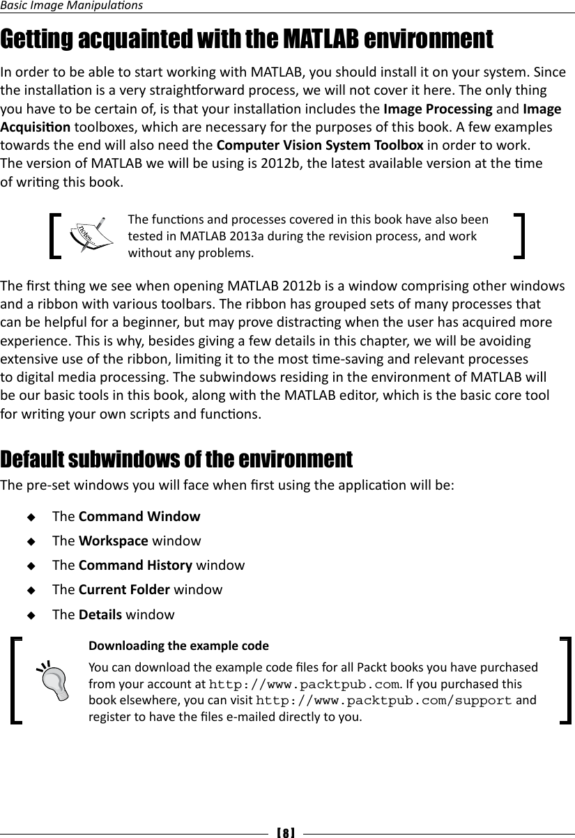 Packt Pub Visual Media Processing Using MATLAB Beginners Guide Sep 2013