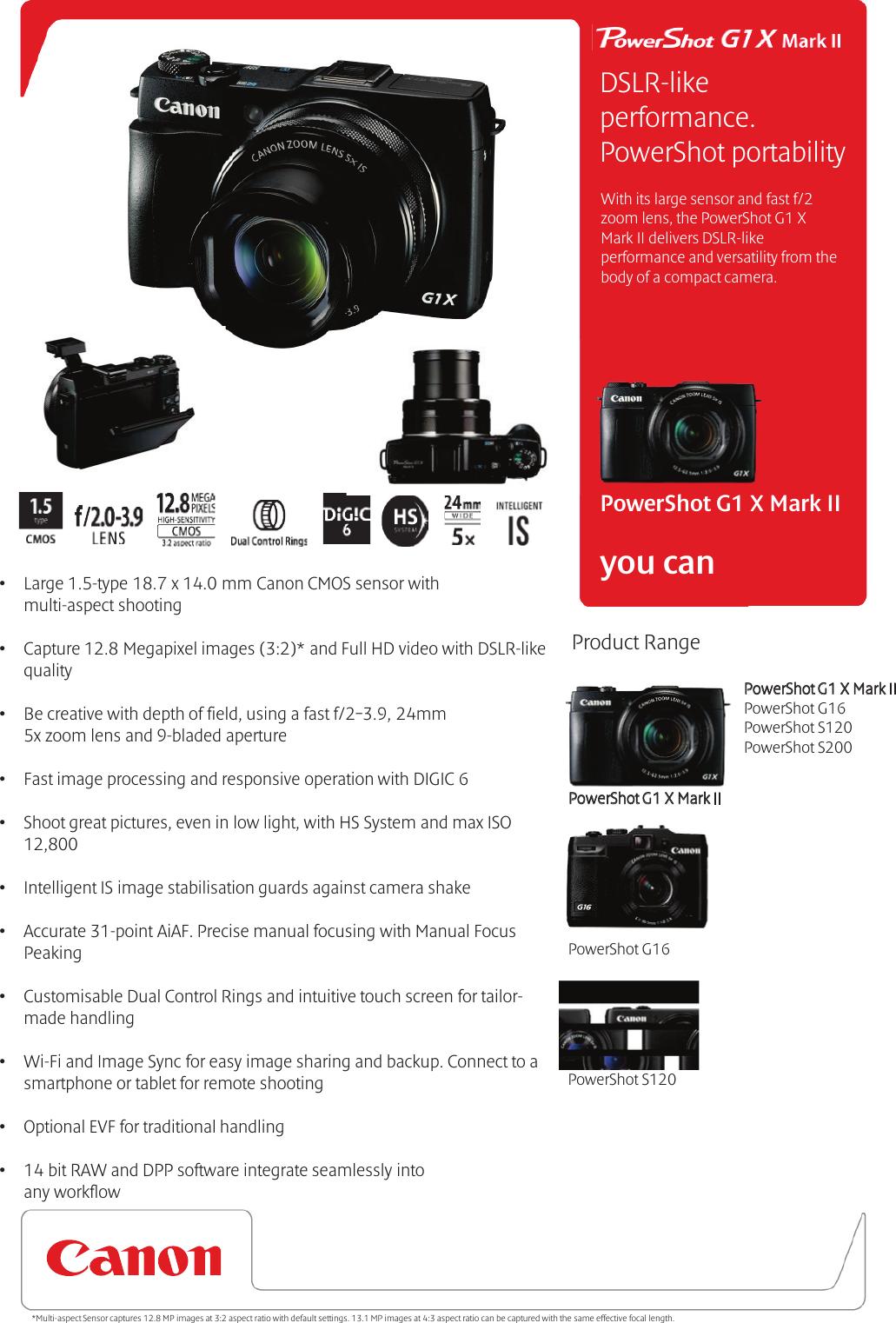 Canon powershot g1x mk iii printed user manual guide instructions.