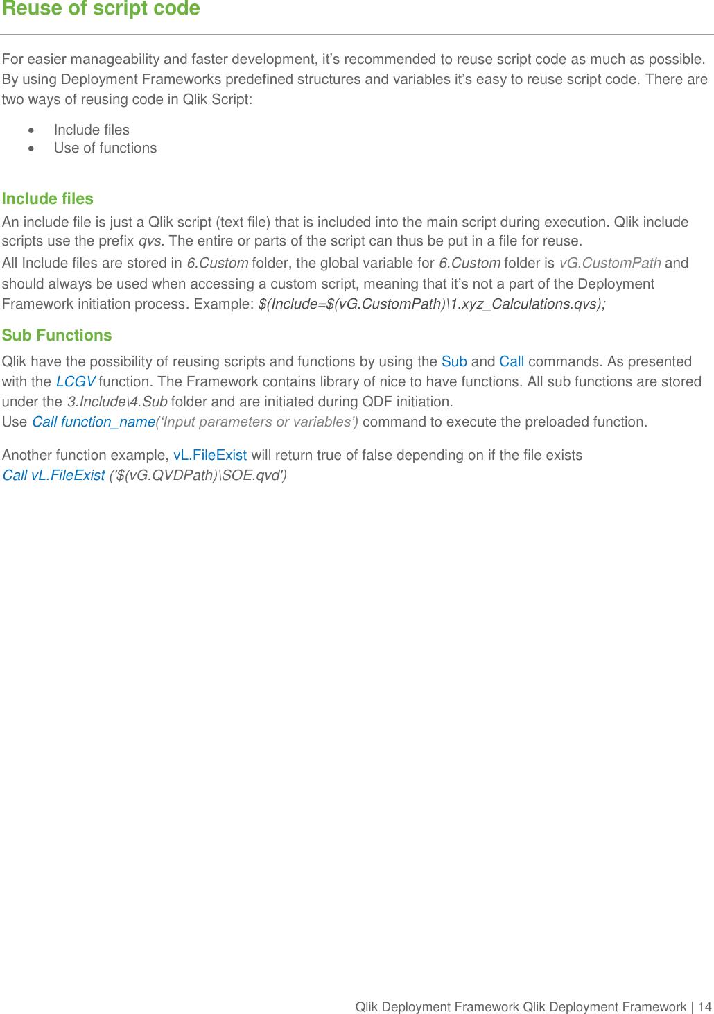 Qlik Deployment Framework View Development Guide