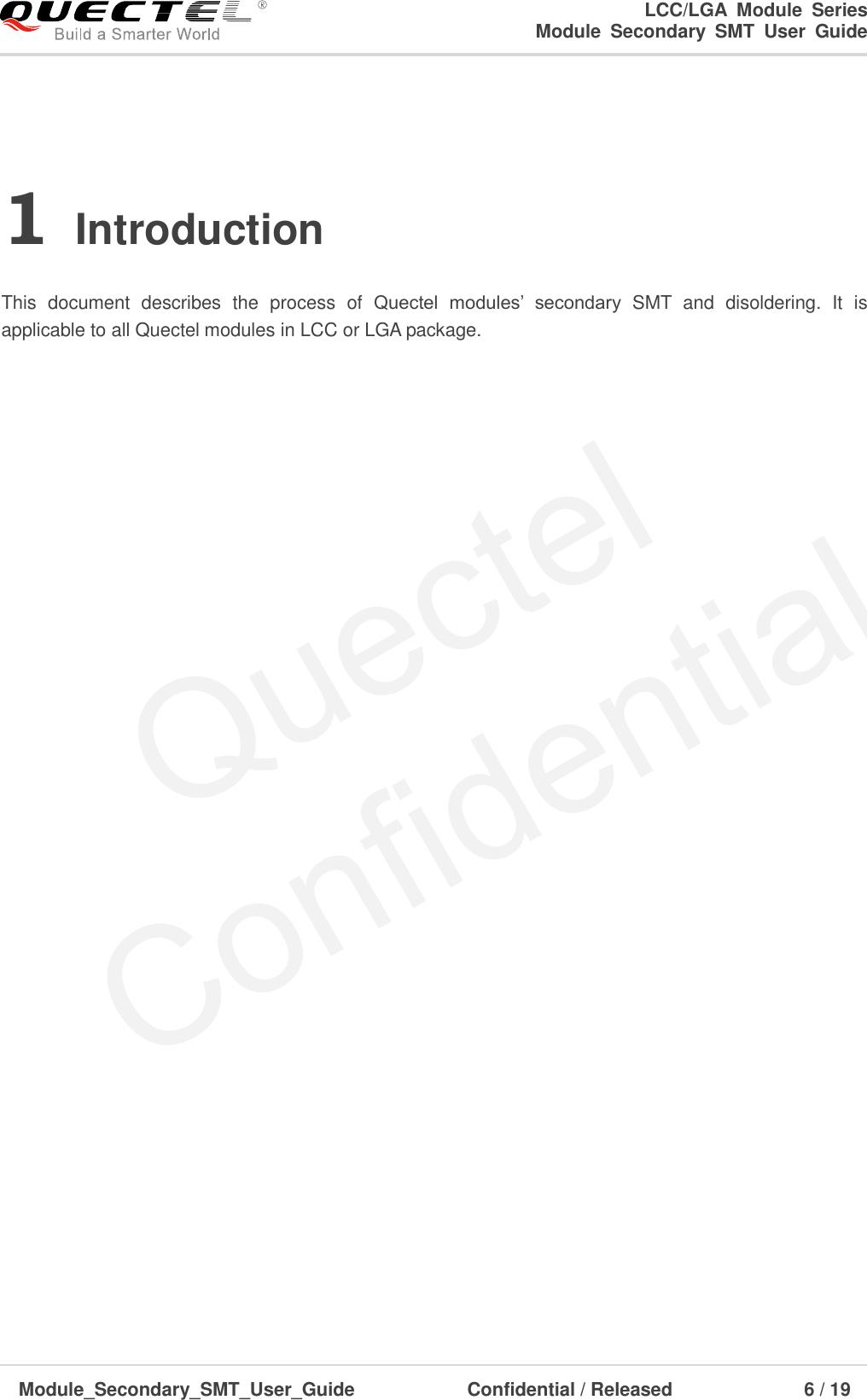 Quectel Module Secondary SMT User Guide V2 3