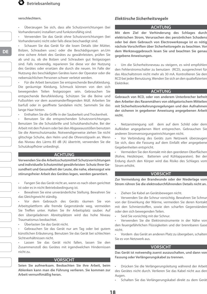 RHM 600 650 Manual