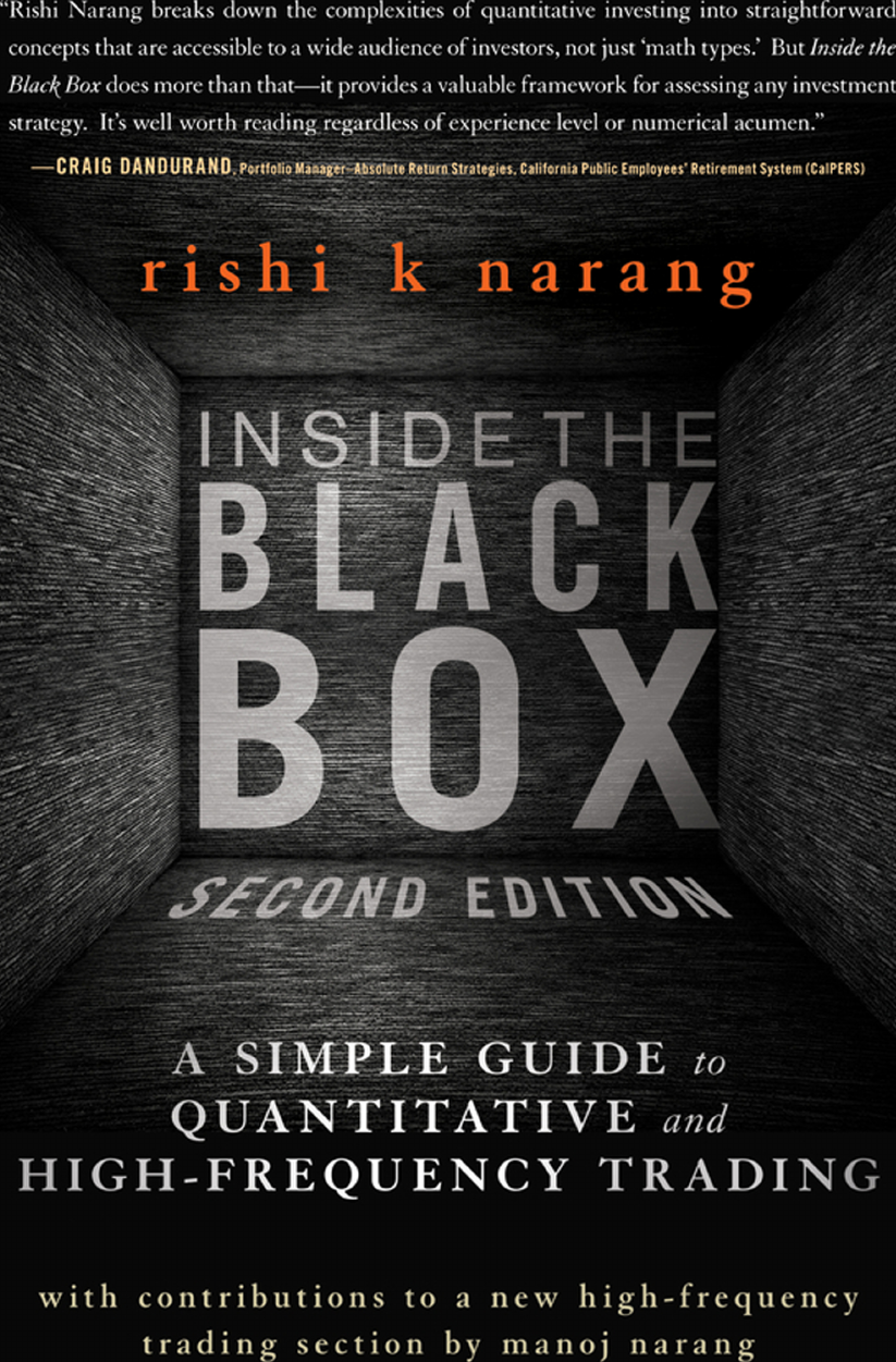 Wiley Finance : Inside The Black Box A Simple Guide To ...