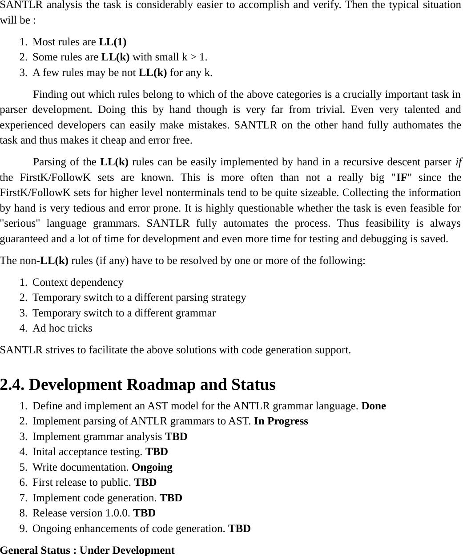 SANTLR User Manual