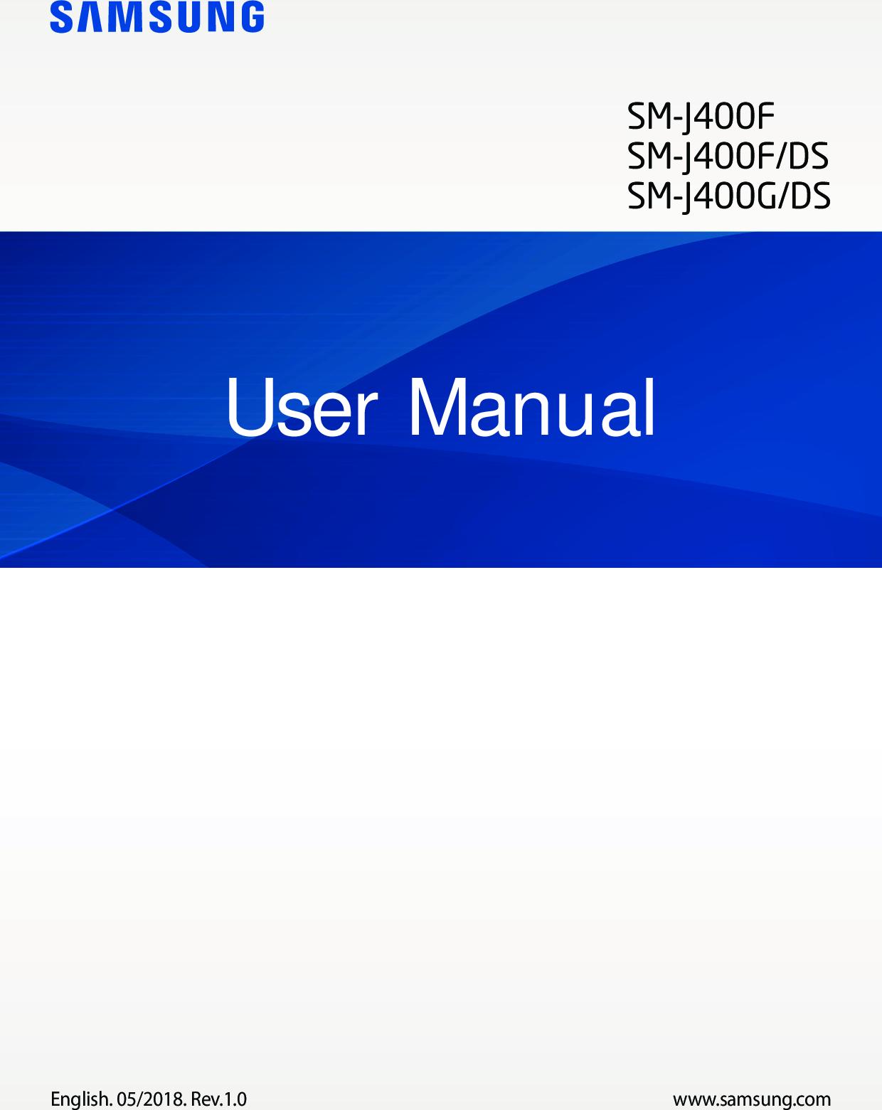 Samsung Galaxy J4 Manual SM J400F G UM Oreo Eng Rev 1 0 180508