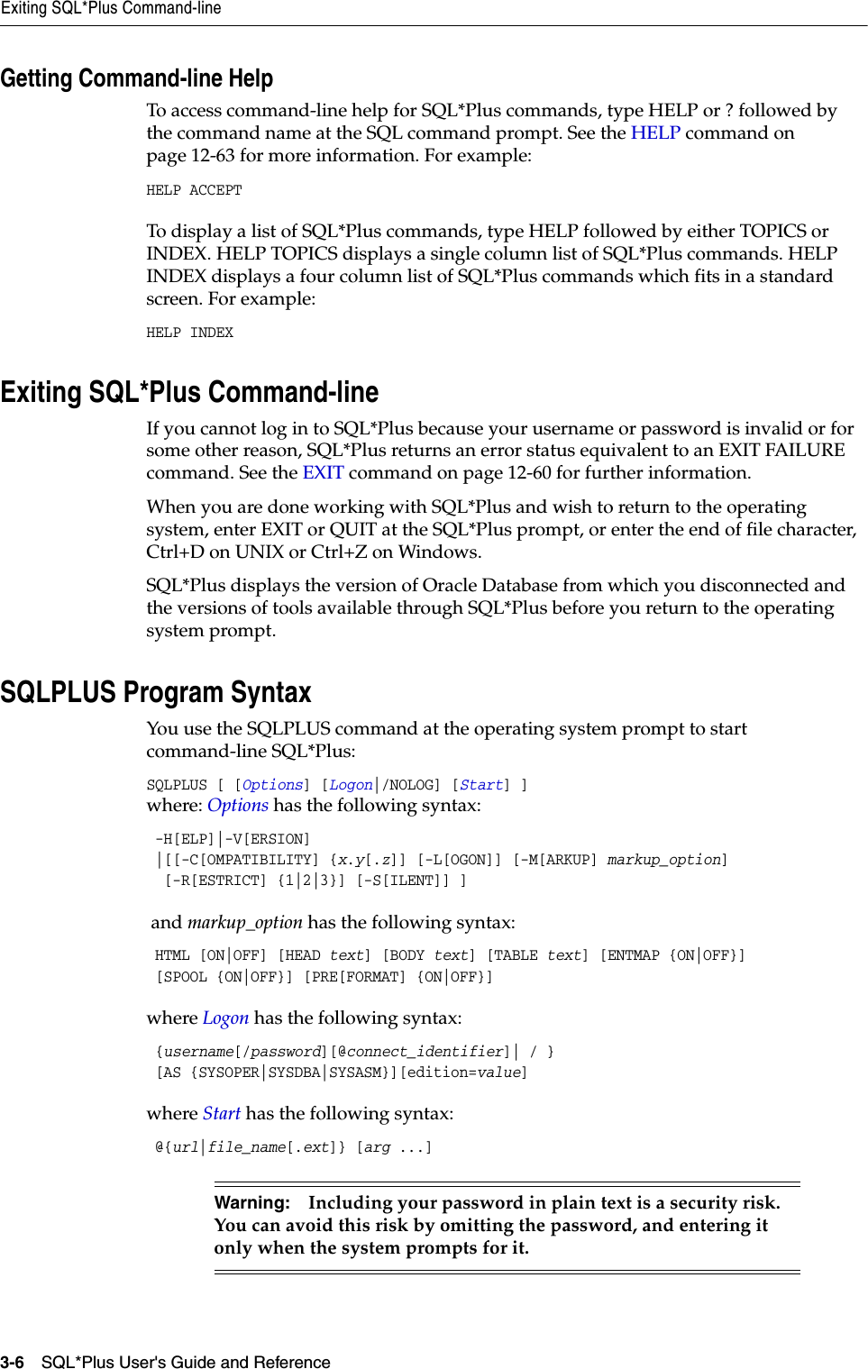 SQL*Plus User's Guide And Reference SQL Plus User Release 11 2