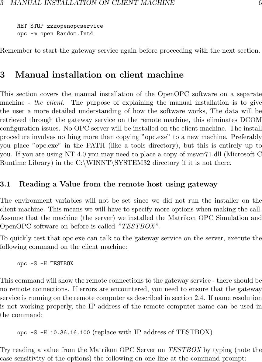 Matrikon Opc Server Manual