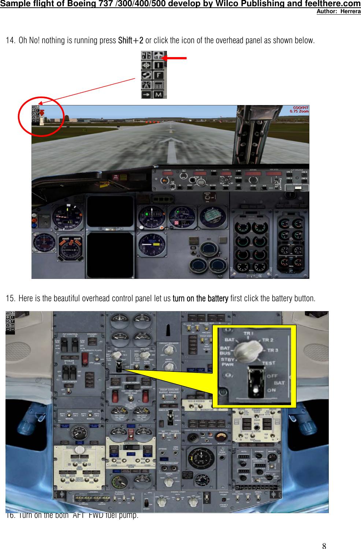 737 Cockpit Overhead Panel