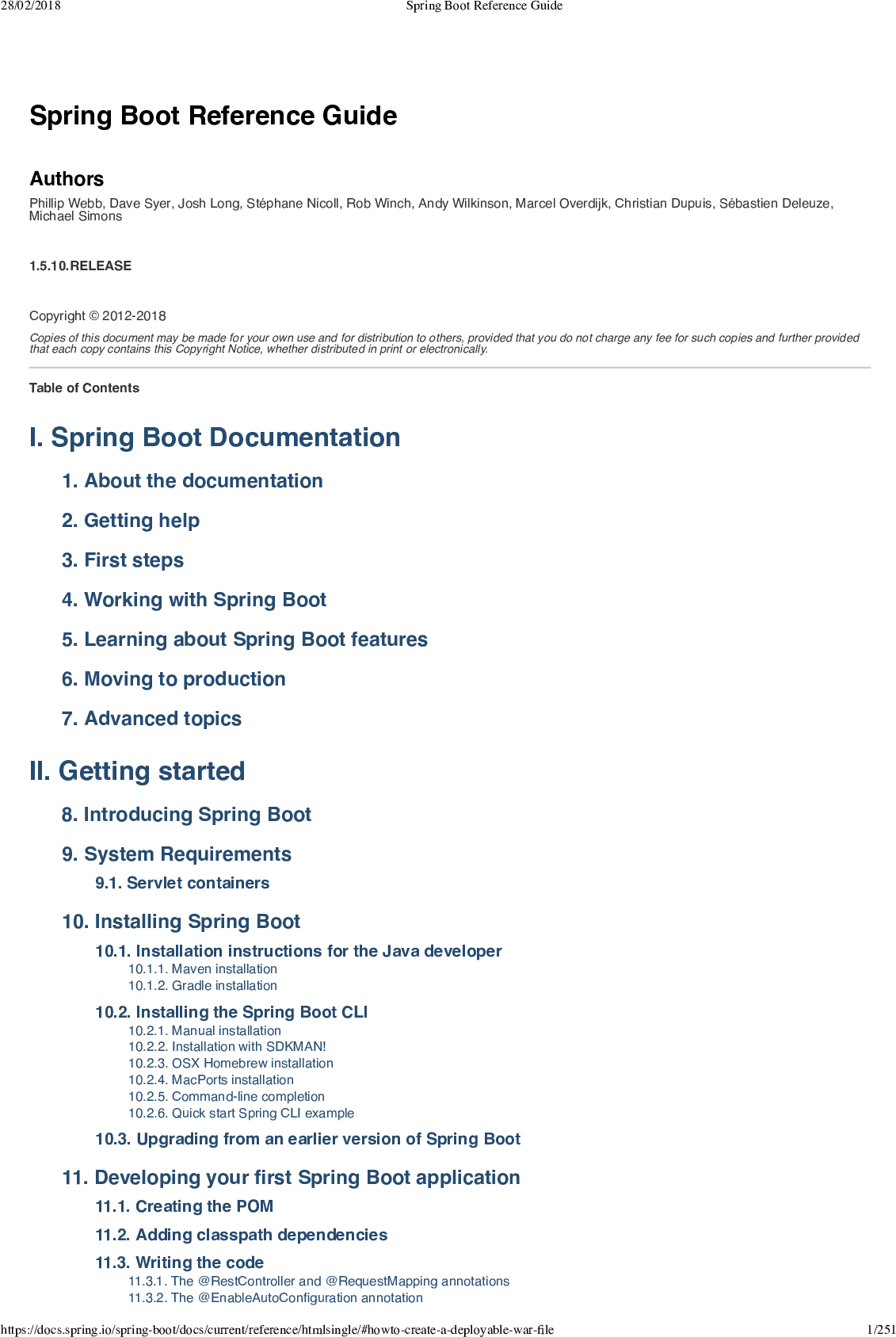 Spring Boot Reference Guide