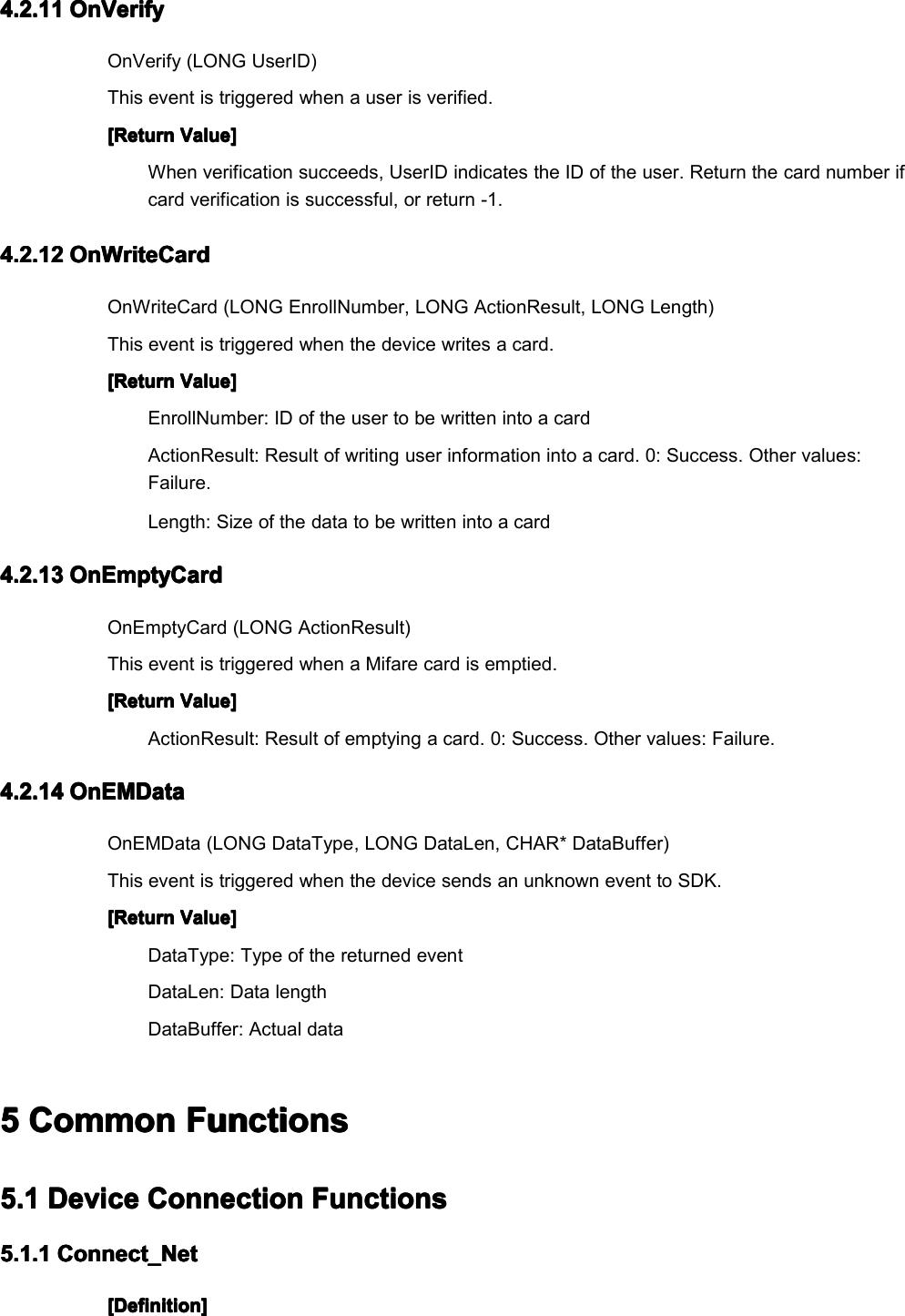 TFT Series SDK Manual