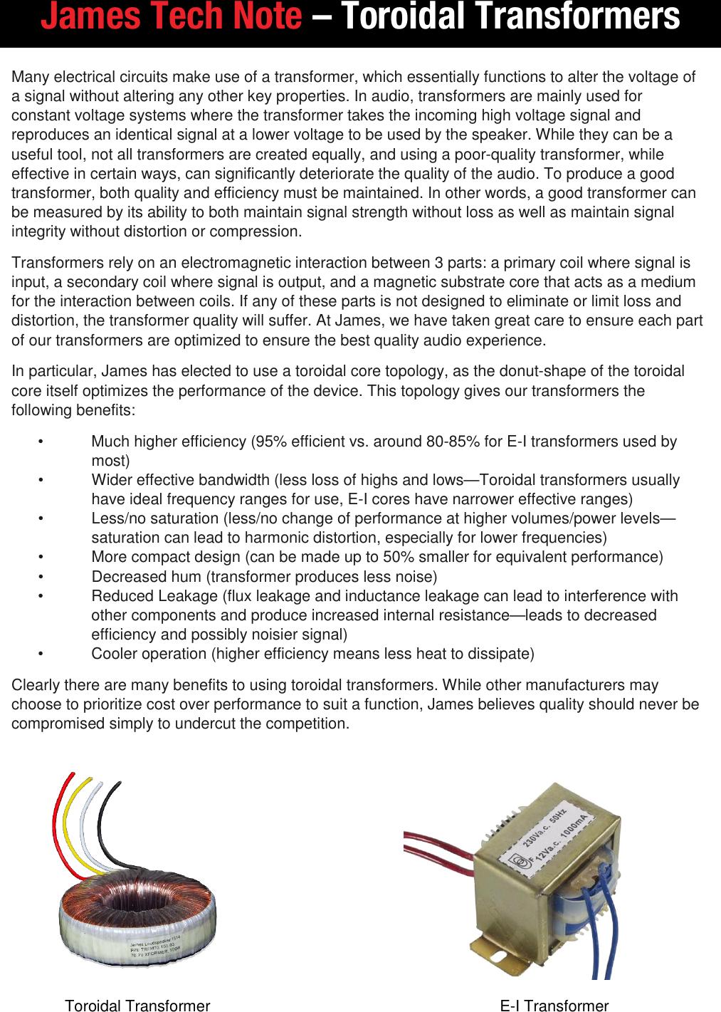 Toroidal Transformer Tech Note
