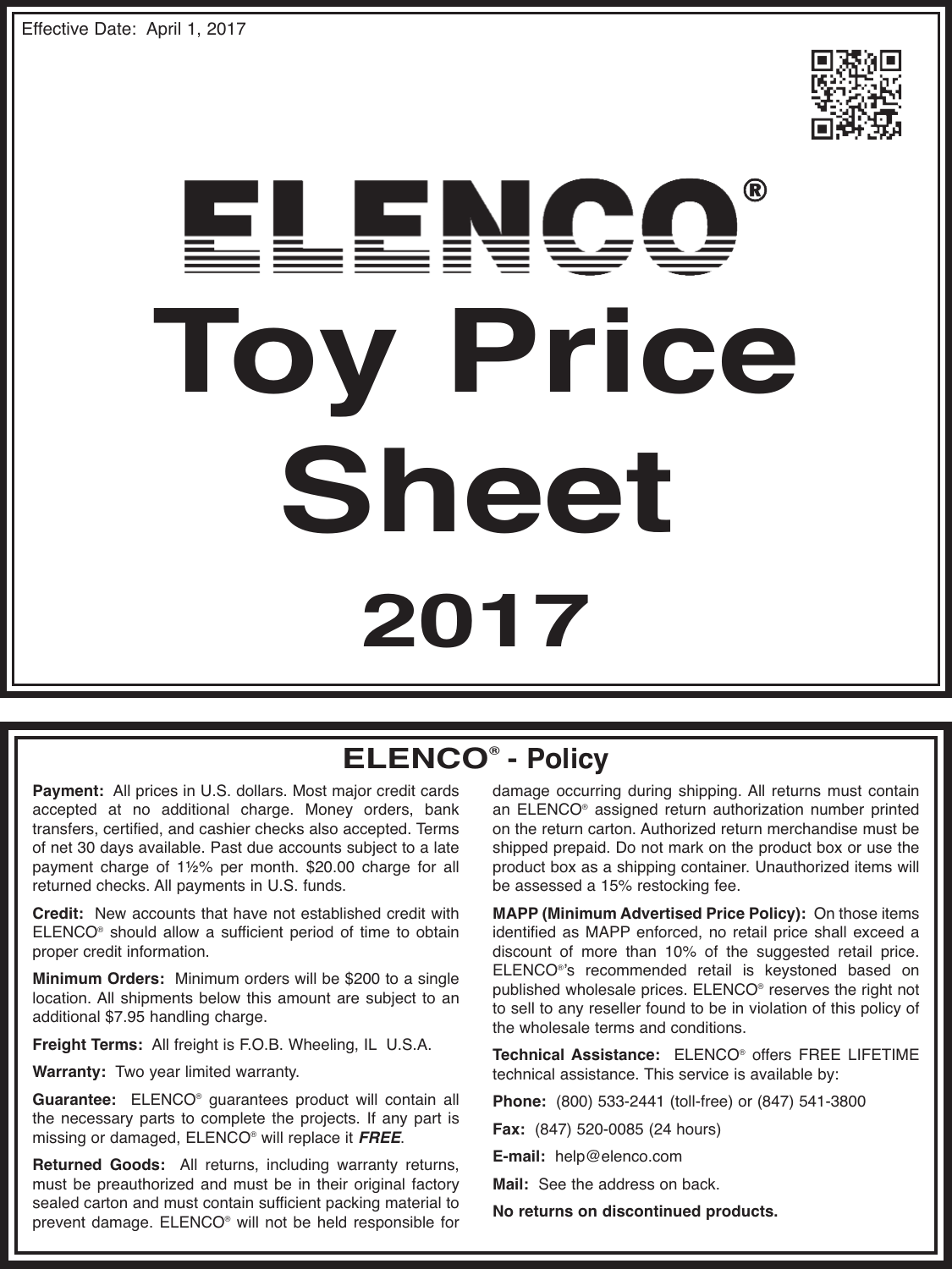 Toy Price Sheet 2017 300in1 Electronic Project Lab Kit Mx908 Toypricesheet20171626446679 User Guide Page 1
