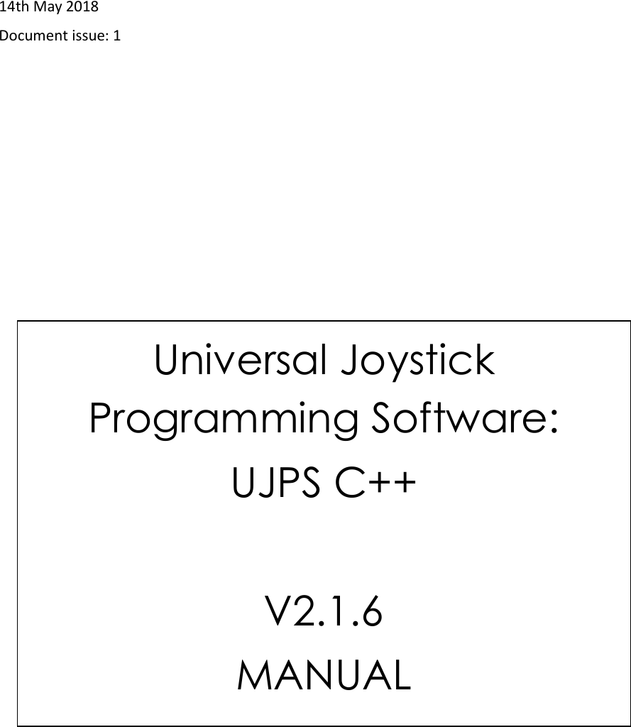 UJPS C++ V2 1 6 Manual Issue1