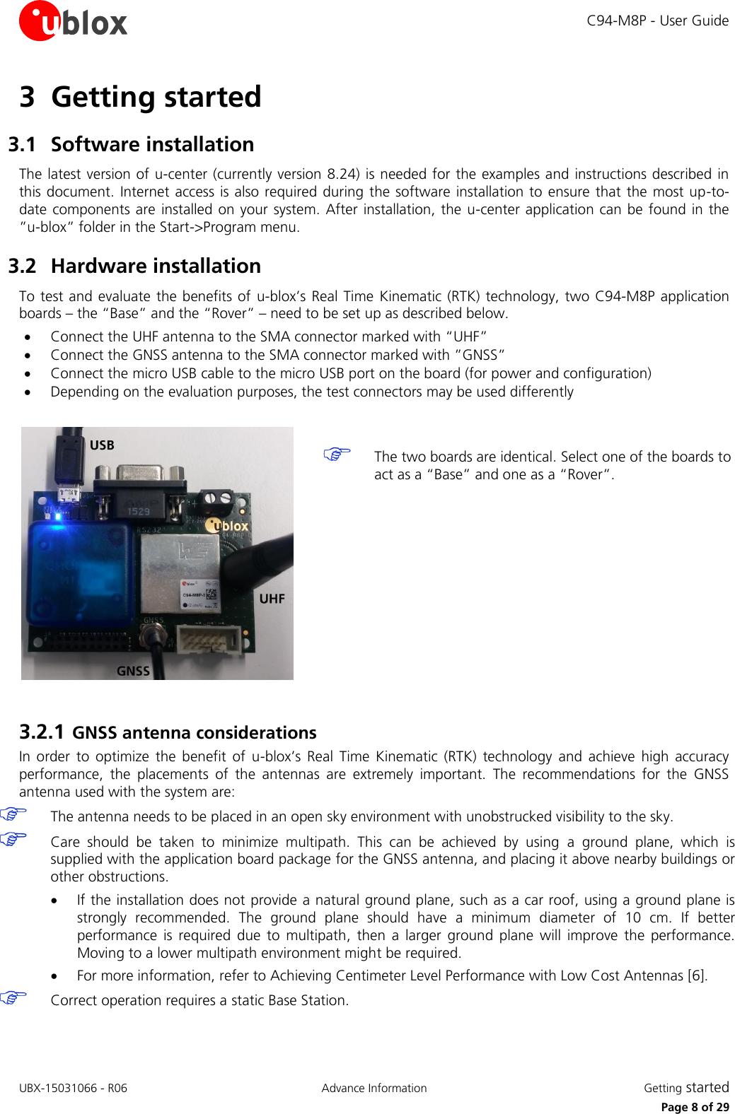 C94 M8P Ublox App Board User Guide (UBX 15031066)