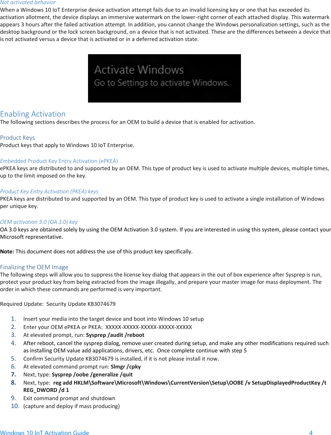 Windows 10 Io T Enterprise Activation Guide