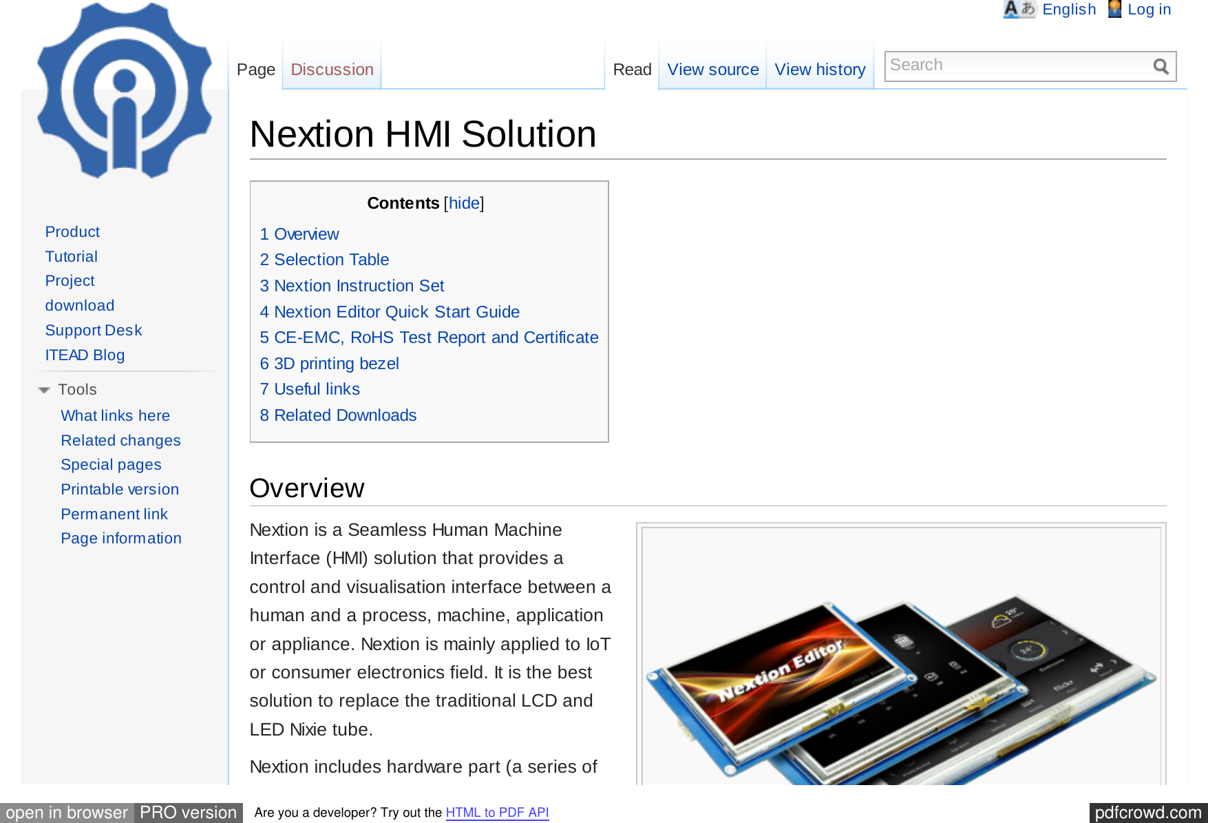 Nextion HMI Solution ITEAD Wiki Www Cc