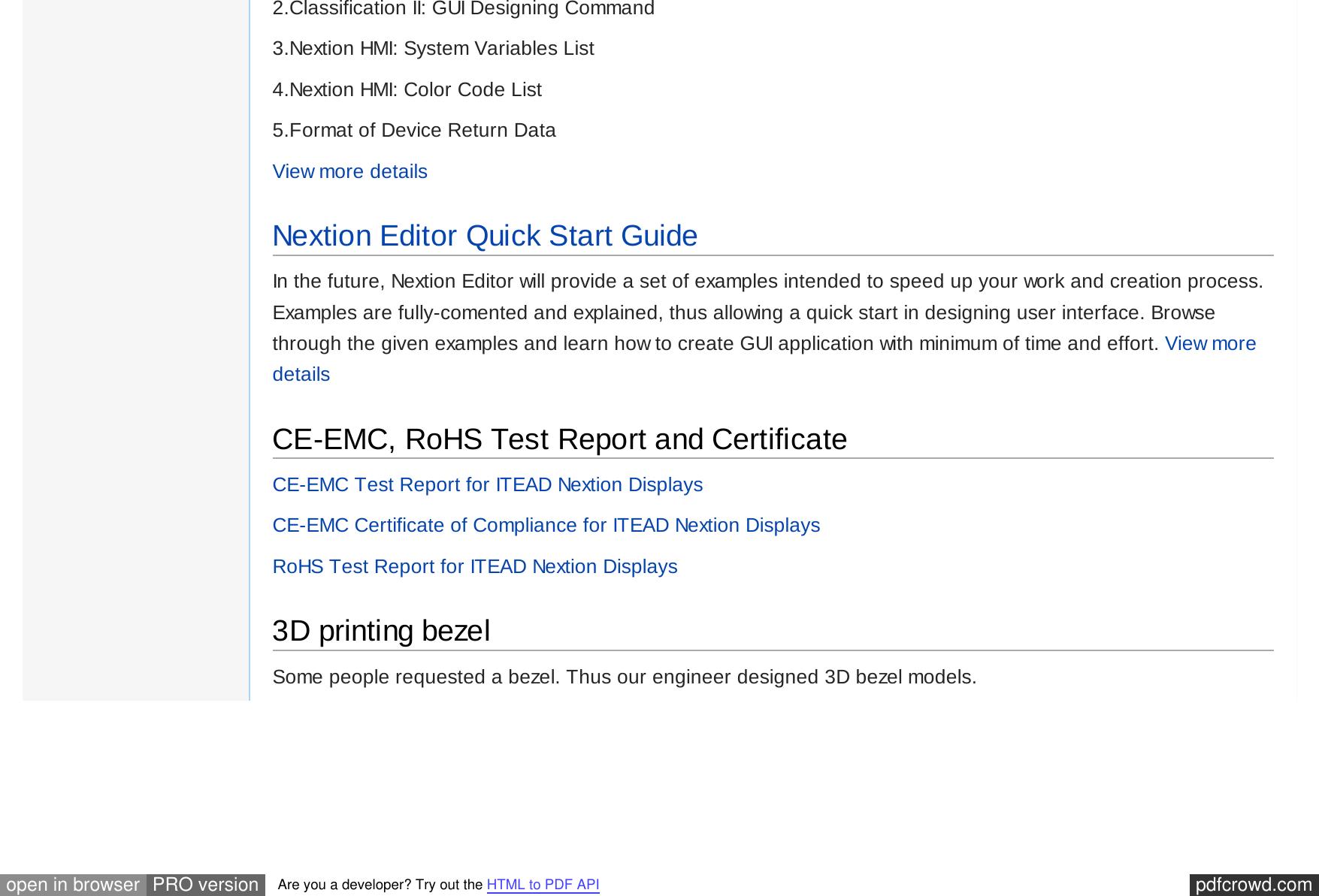 Nextion Code Examples