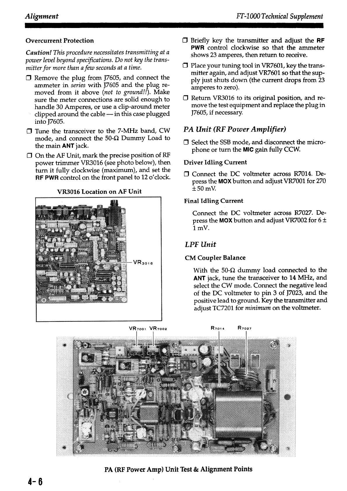 Ft 1000 Technicalsupplement Yaesu Service Manual