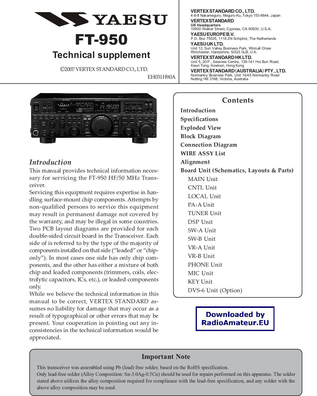 Yaesu Ft 950 Service Manual Serv Ptt Wiring Diagram
