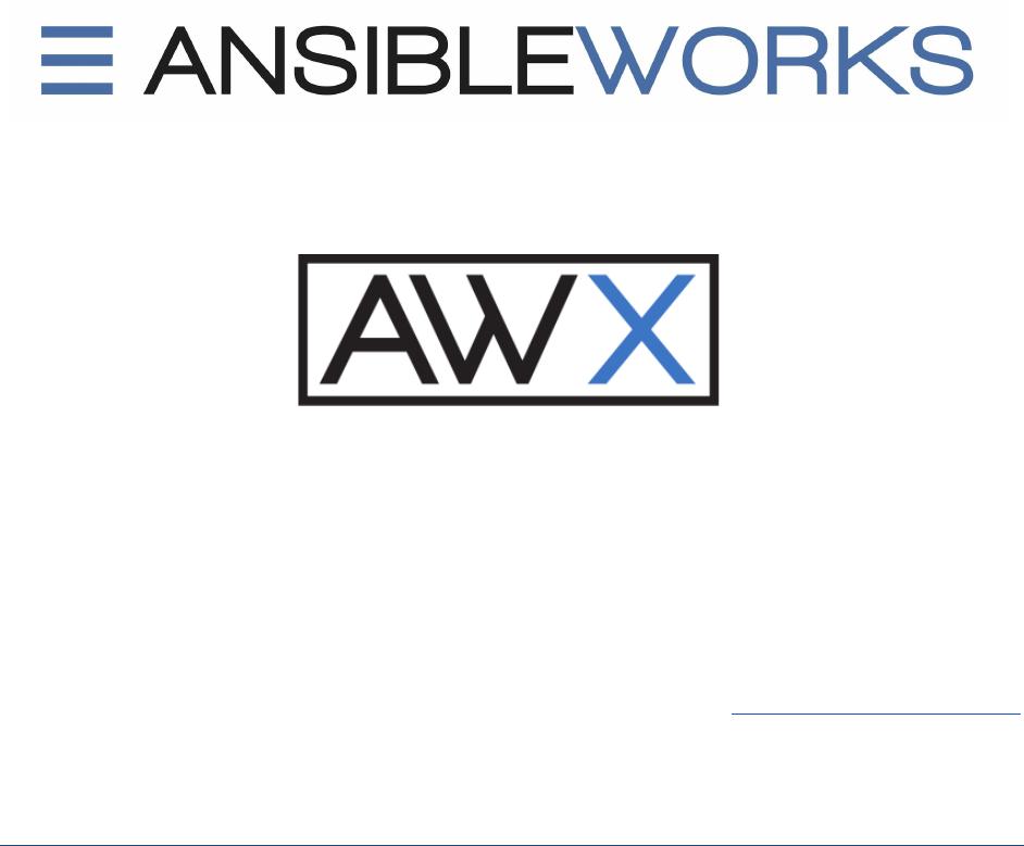 Awx User Guide 1 4 0