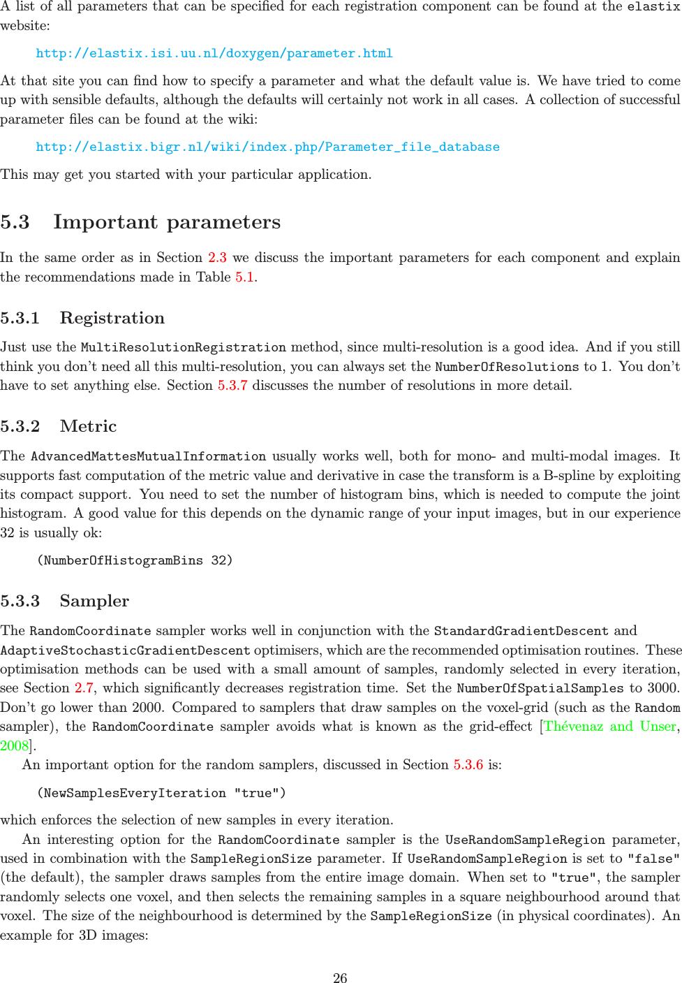 Elastix, The Manual Elastix V4 7