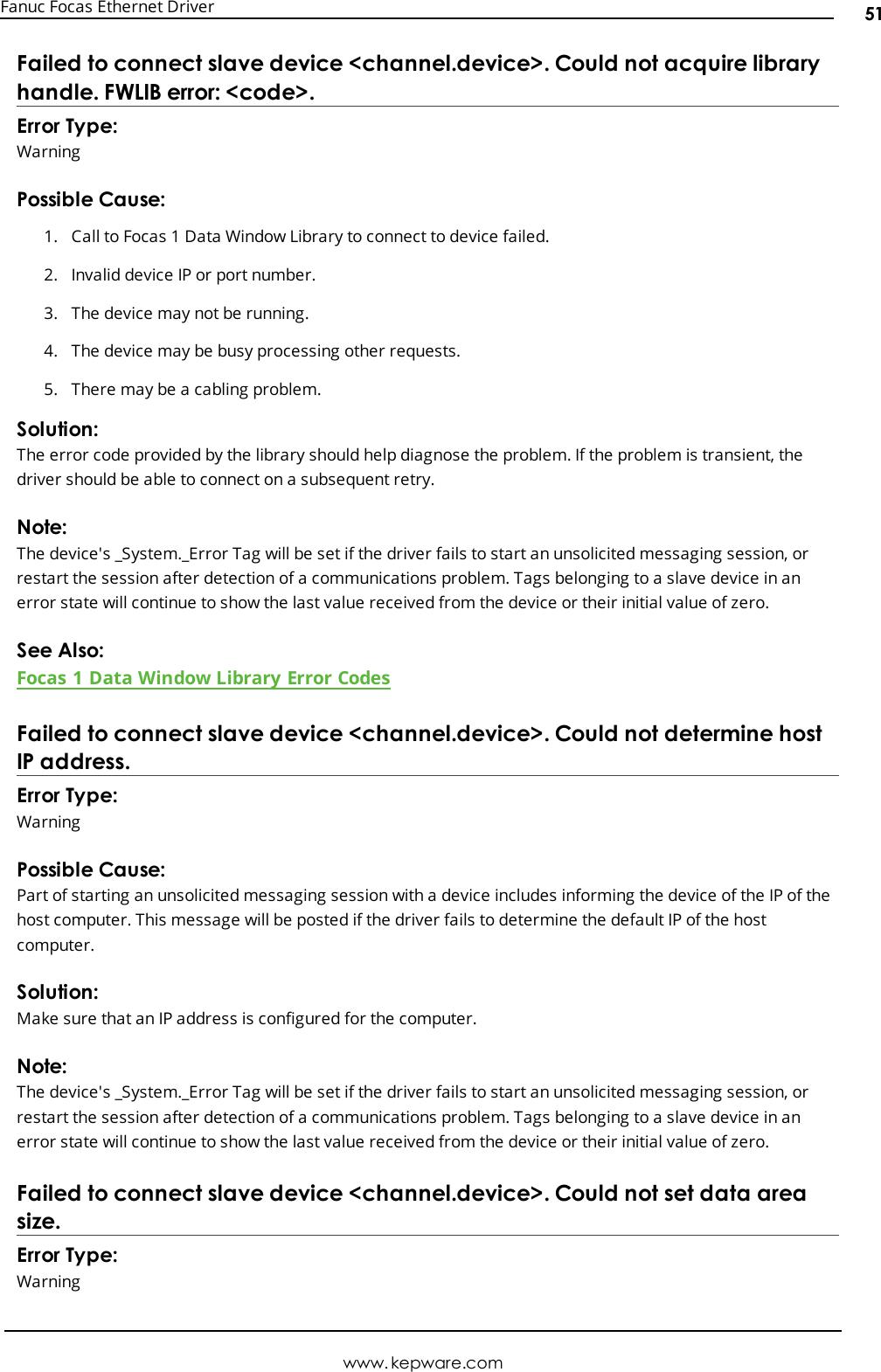 Fanuc Focas Ethernet Driver Help Manual