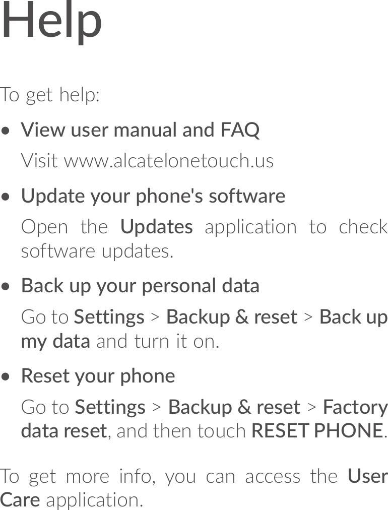 Alcatel idol 5s quick start guide qg En