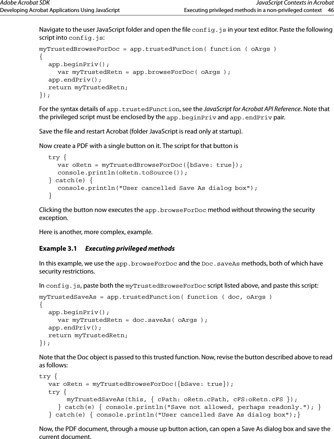Developing Acrobat Applications Using JavaScript Js