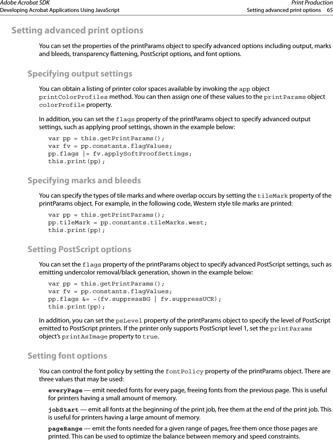 Developing Acrobat Applications Using JavaScript Js Developer Guide