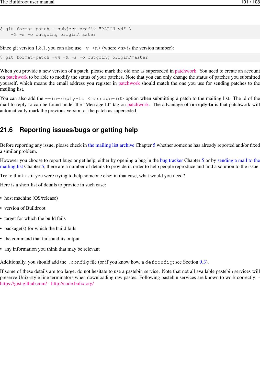 The Buildroot User Manual