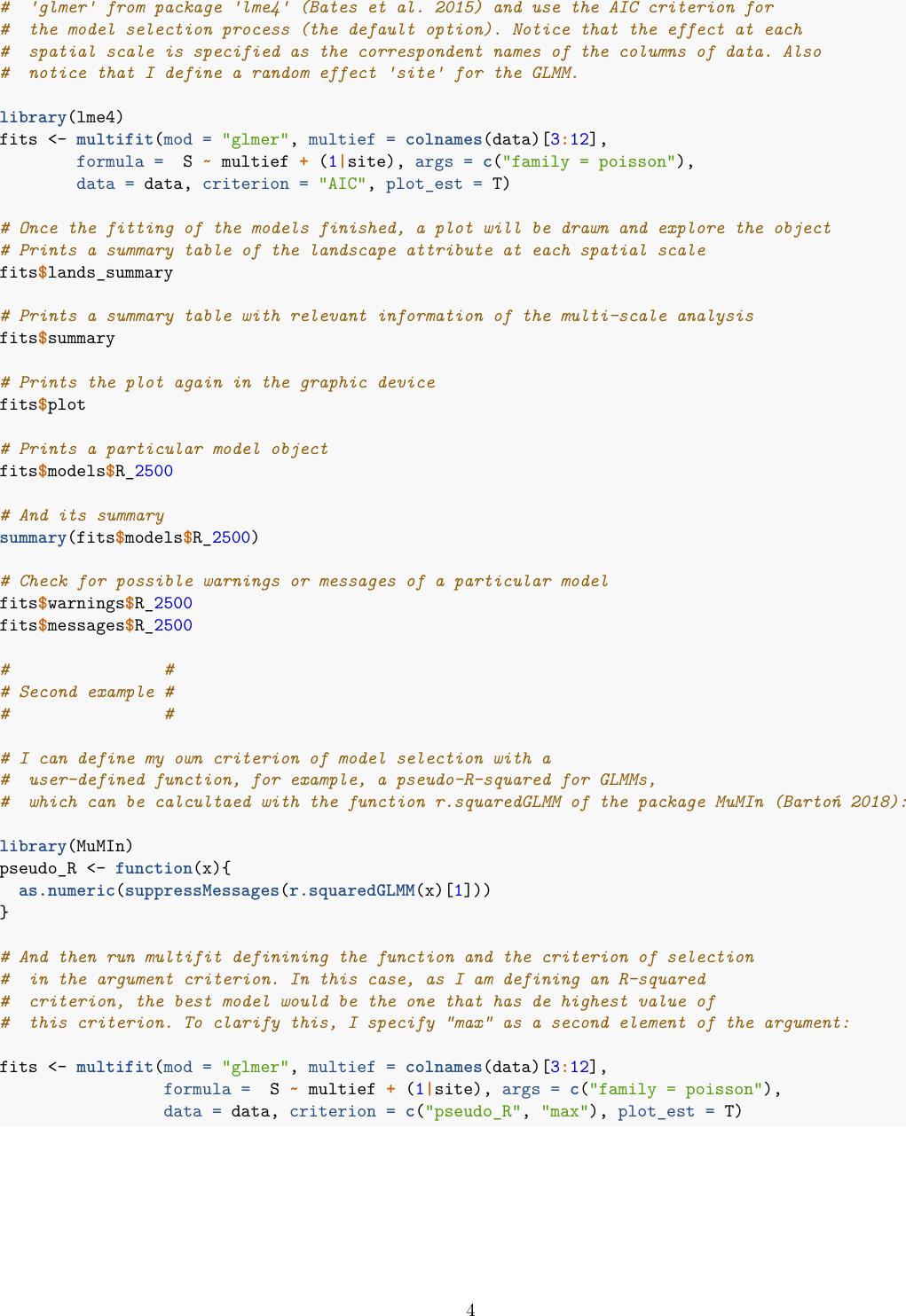 Multifit: An R Function Manual EN