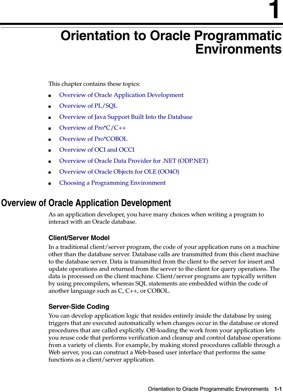 Oracle Database Application Developer's Guide Fundamentals