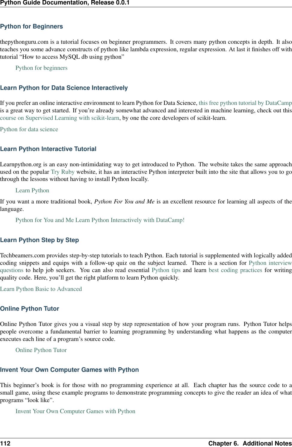 Python Guide Ation