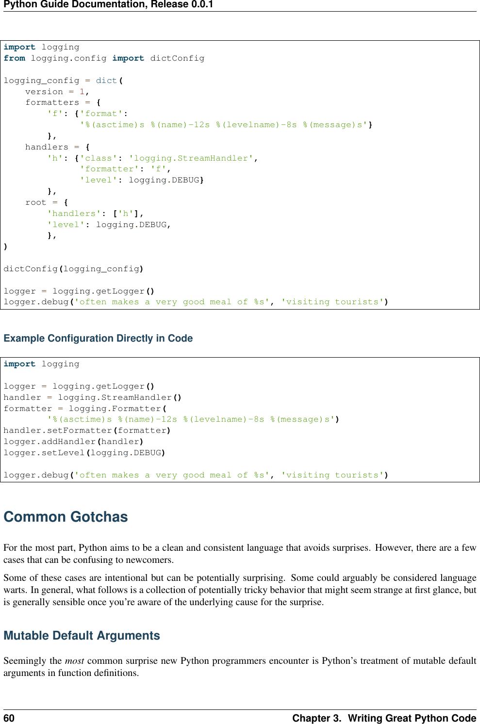 Python Logging Formatter